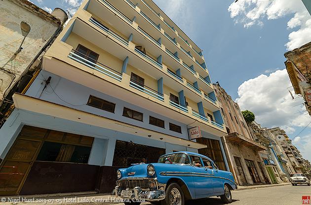 El hotel Lido esta en el Centro de la Habana