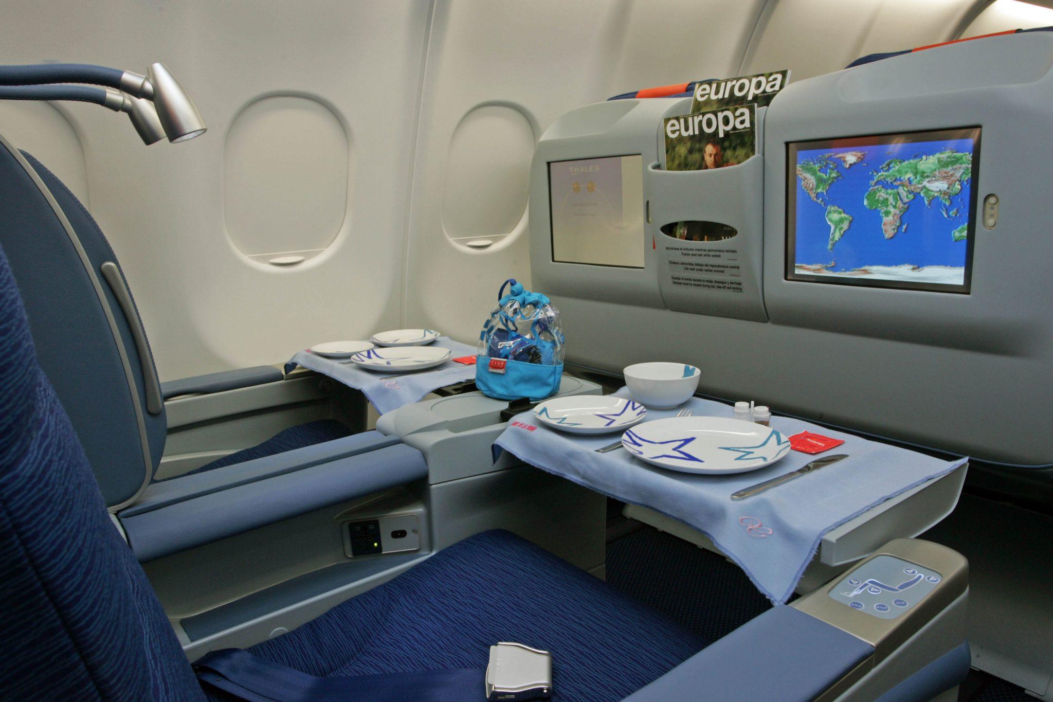 Clase business de Air Europa