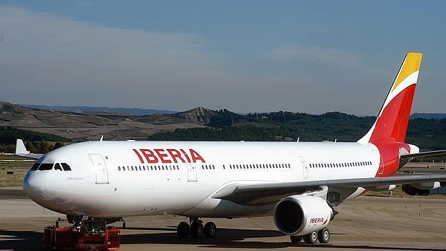 Avión de Iberia puente aereo