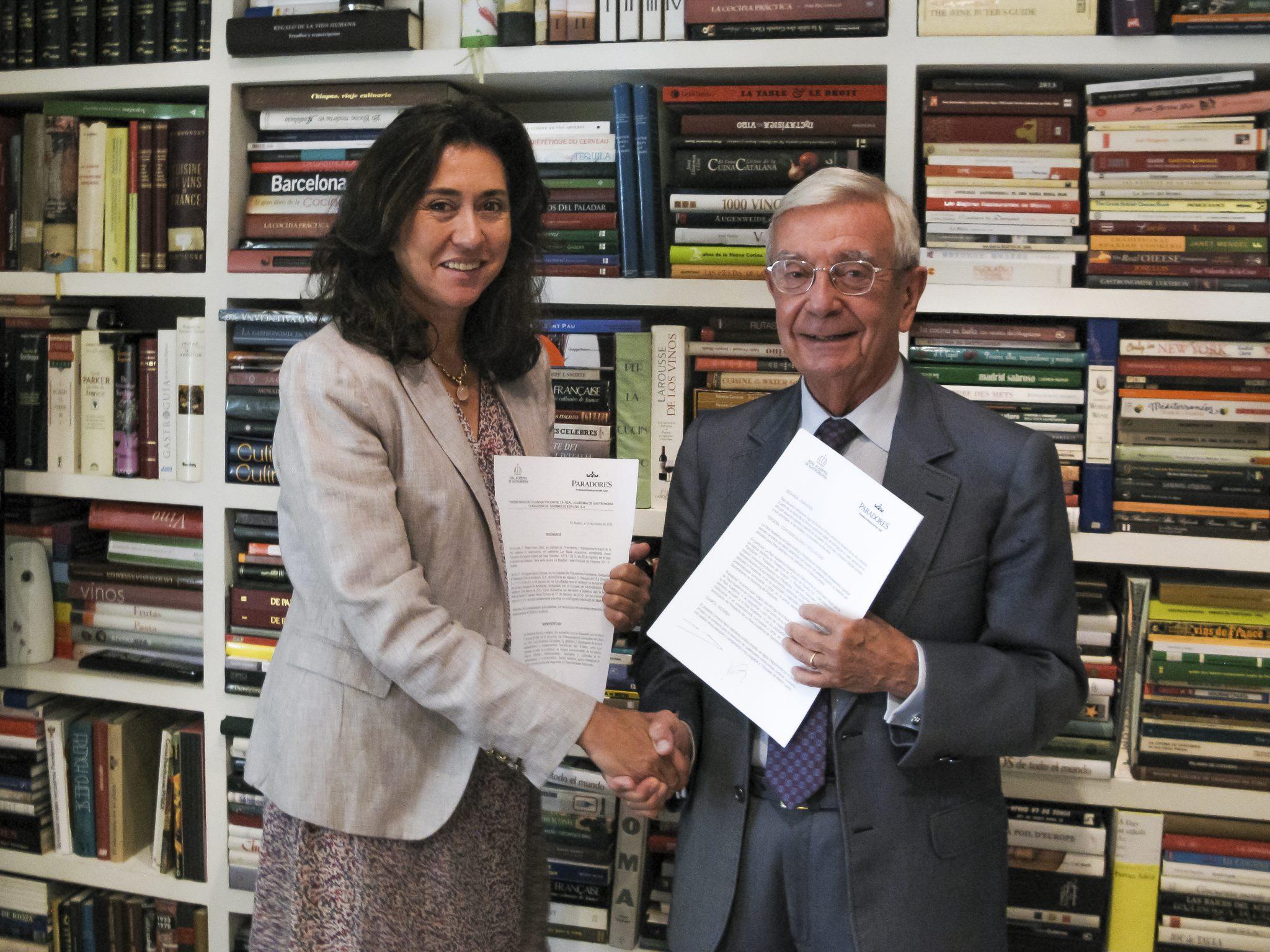 Acuerdo entre Paradores y la Real Academia de Gastronomía