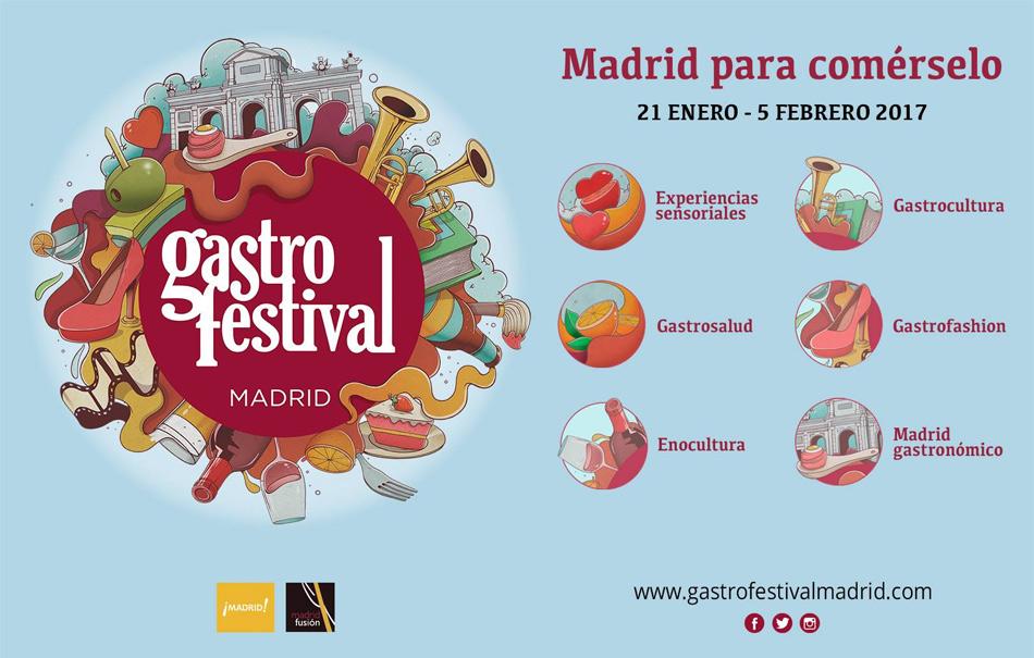 Cartel del gastrofestival de Madrid
