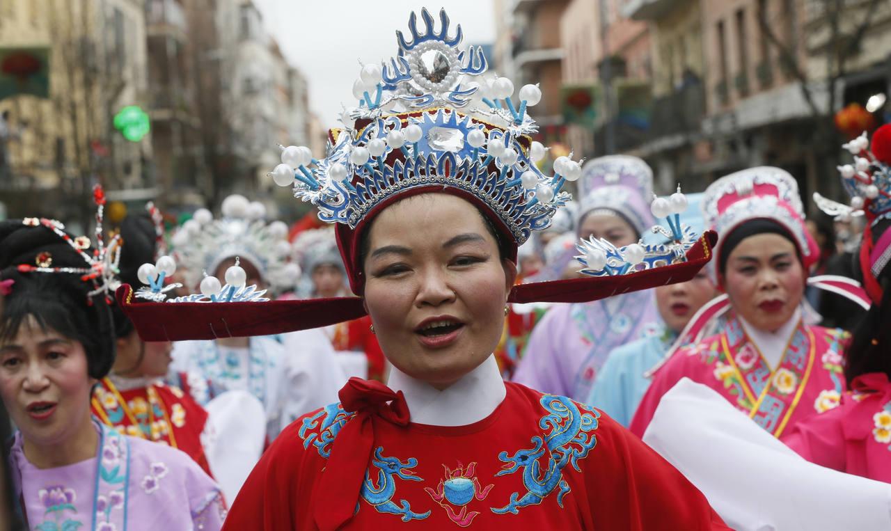 Año nuevo chino en Madrid barrio de Usera