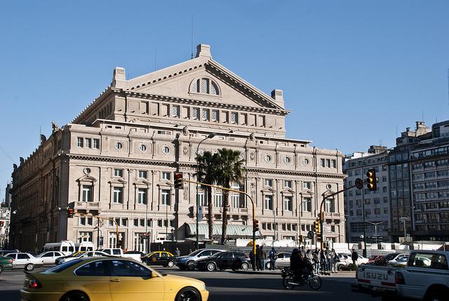 Fachada del Teatro Colón de Buenos Aires