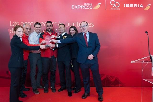 Iberia aerolinea más puntual del mundo