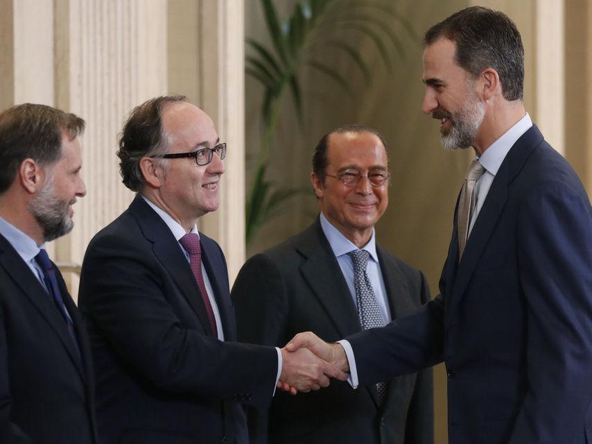 La cupula de iberia recibida por el Rey de España Felipe VI