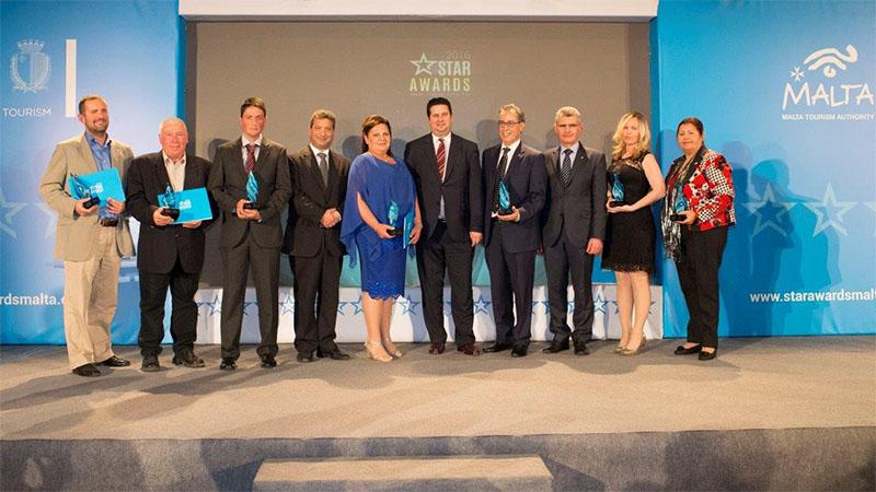 Malta entrega de los premios STAR a la excelencia del servicio turístico