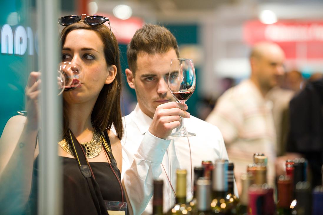 Tunel del vino en el Salón de Gourmets