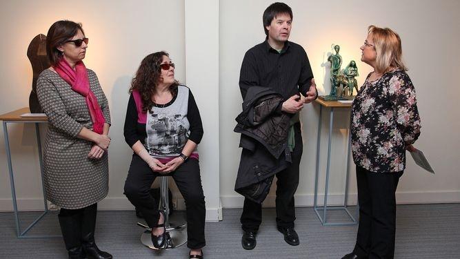 Exposicion en el museo Tiflológico de la ONCE Esculturas en la oscuridad