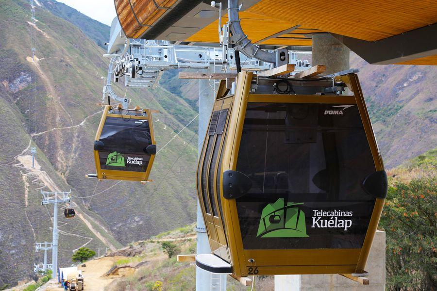 Telecabinas de Kuélap en Perú