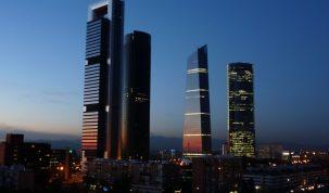 Vista de las cuatro Torres de Madrid
