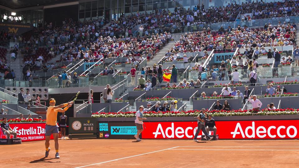 Open de tenis de madrid con la participación de Italia