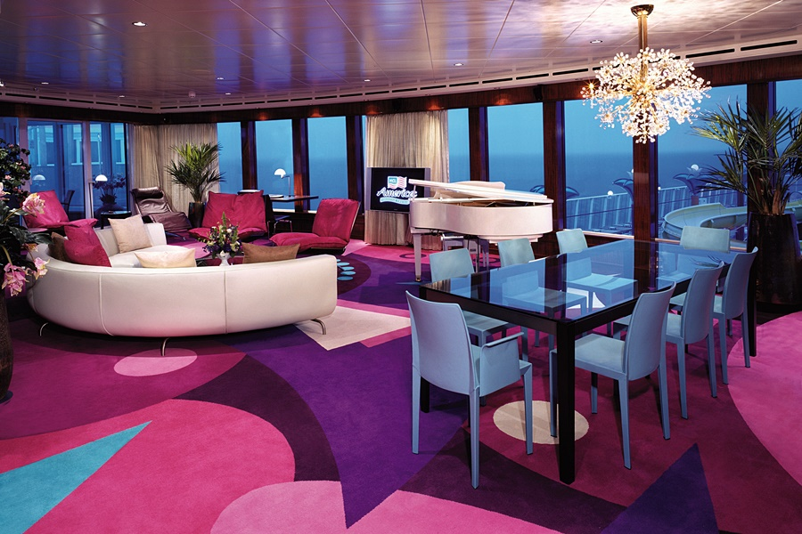 Garden Villa Living Room Norwegian Cruise Line