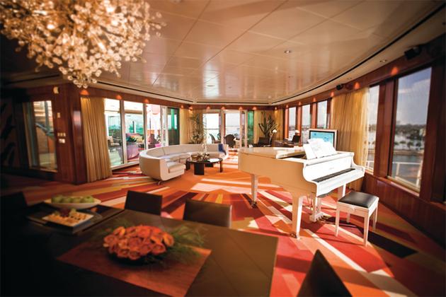 Garden Villa Livingroom Norwegian Cruises Line