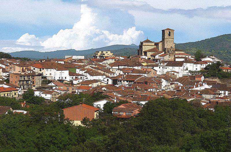 Pueblo de Hervás en Cáceres