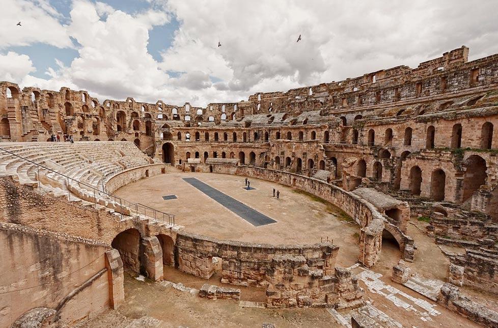Anfiteatro romano de El Djem en Túnez