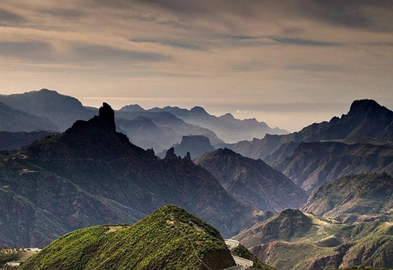 Vista de la montaña desde Tejada en Gran Ganaria