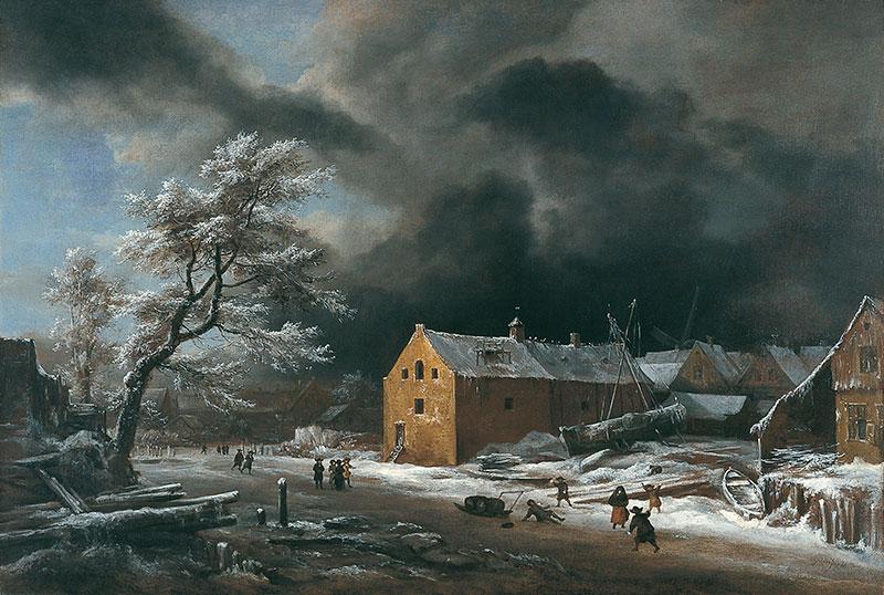 Paisaje de invierno (hacia 1670), de Jacob Isaacksz