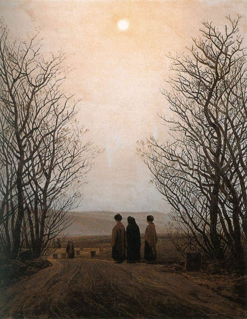 Mañana de Pascua (hacia 1828-1835) Caspar David Friedrich
