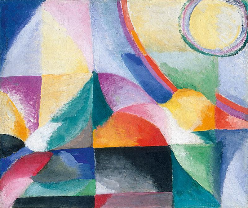 Contrastes simultáneos (1913), de Sonia Delaunay