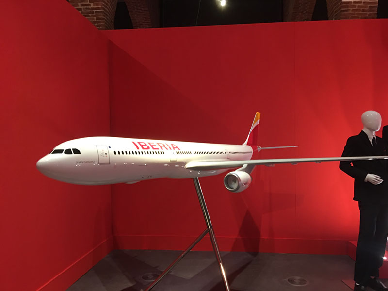 Maqueta del nuevo A-330 de Iberia