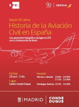 Exposición sobre los 90 años de Iberia