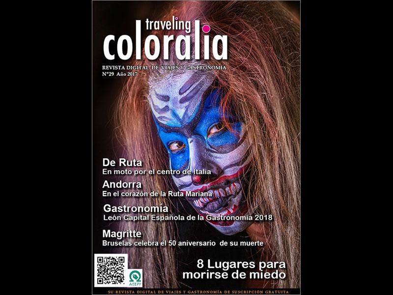 Portada de la revista numero 29 de Traveling-Coloralia