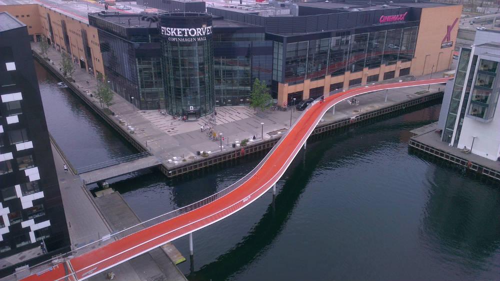 Nuevo puente para los ciclistas Copenhague