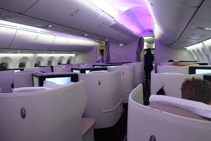 Cabina business del Dreamliner -787 de Saudia
