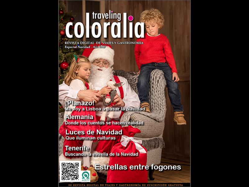 Portada de la Revista Traveling-Coloralia especial de Navidad 2017