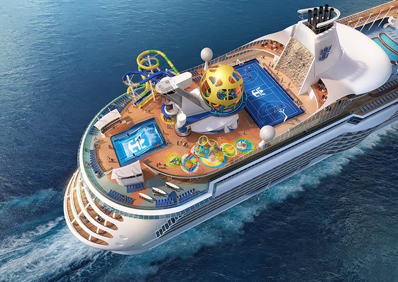 Vista aérea del buque Mariner of the Seas
