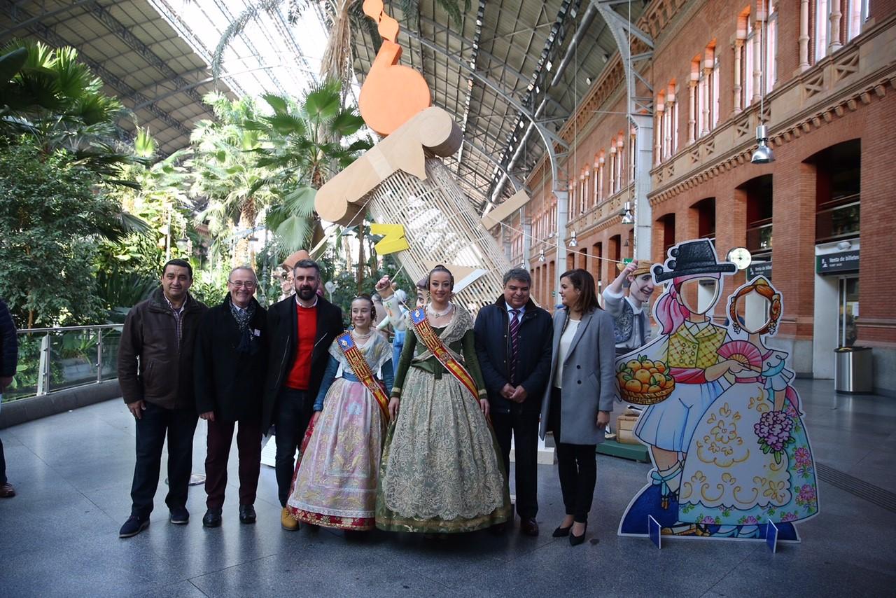 Presentacion Las Fallas en Atocha