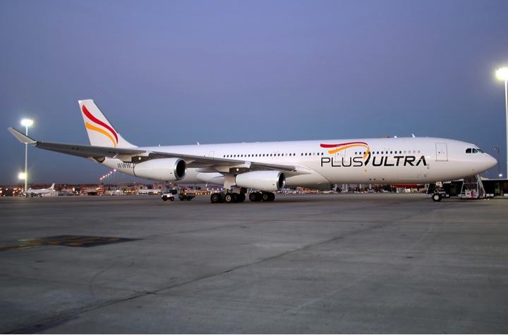 Aerbus A340 de Plus Ultra