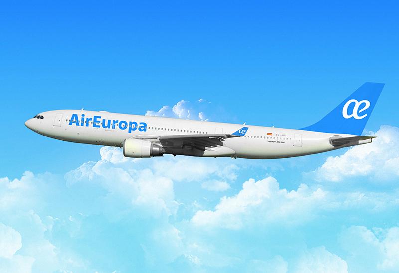 Airbus 330-200 de air europa en la ruta a bolivia