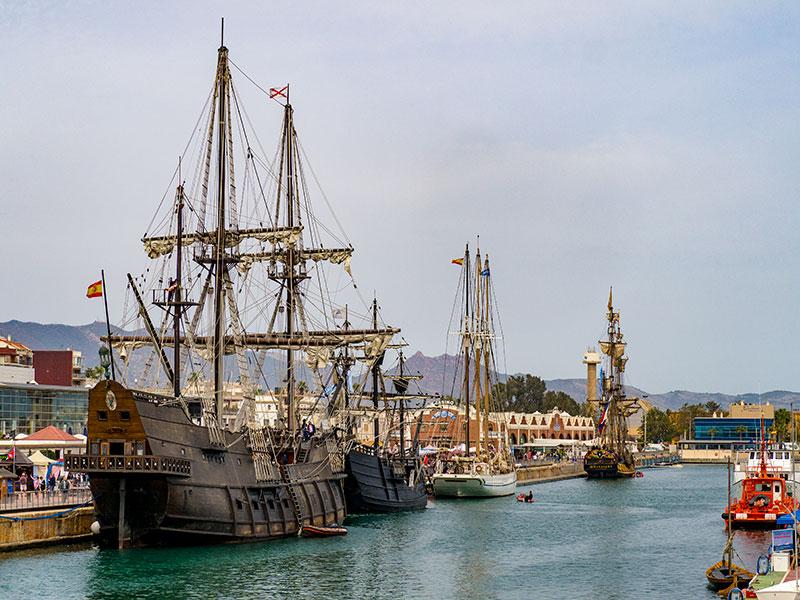 Los cuatro navios que acudieron a Escala a Castelló
