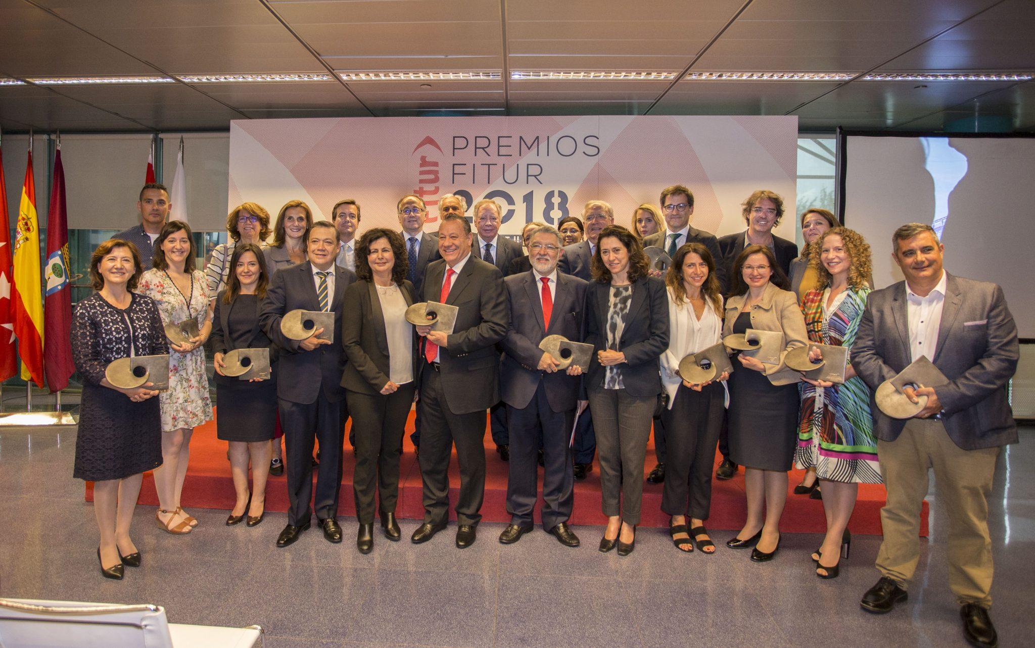 Foto de la entrega de Premios FITUR 2018