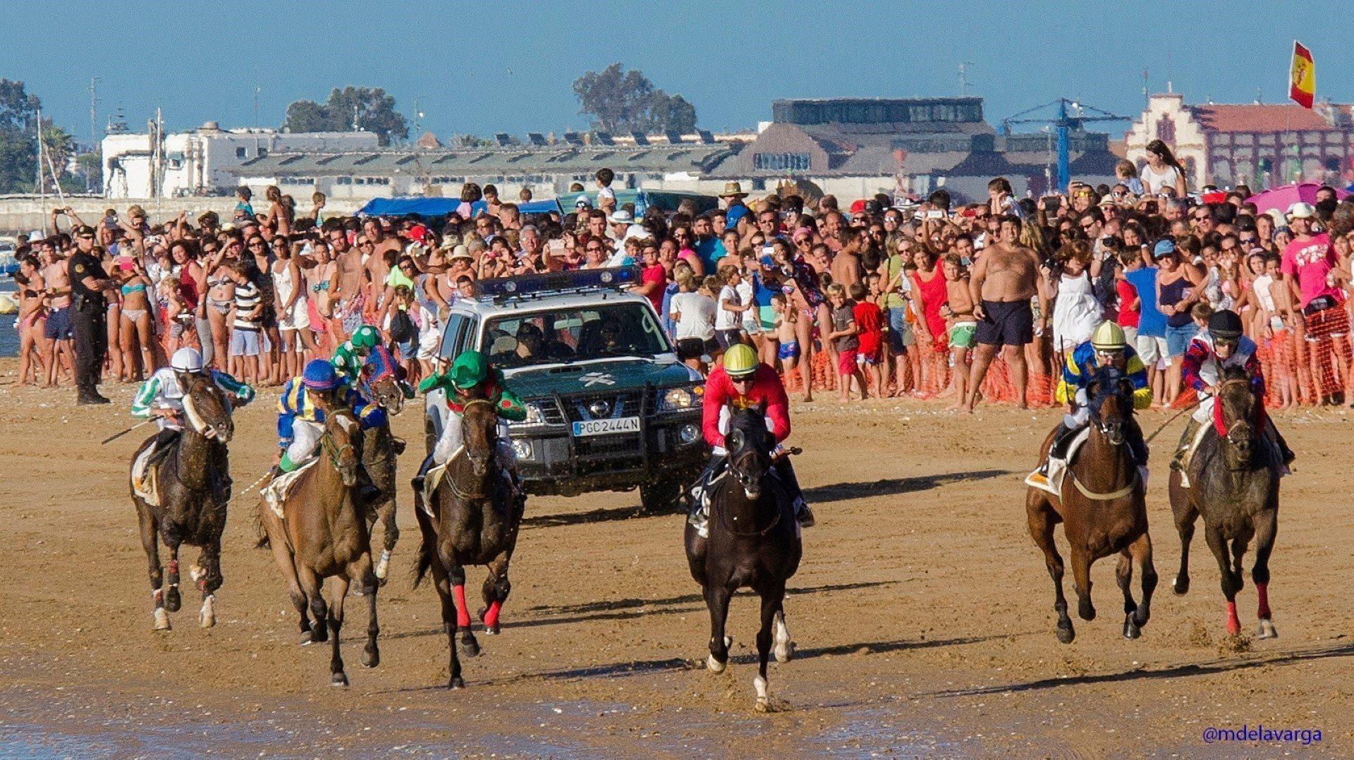 Carreras de caballos en Sanlúcar de Barrameda durante el verano
