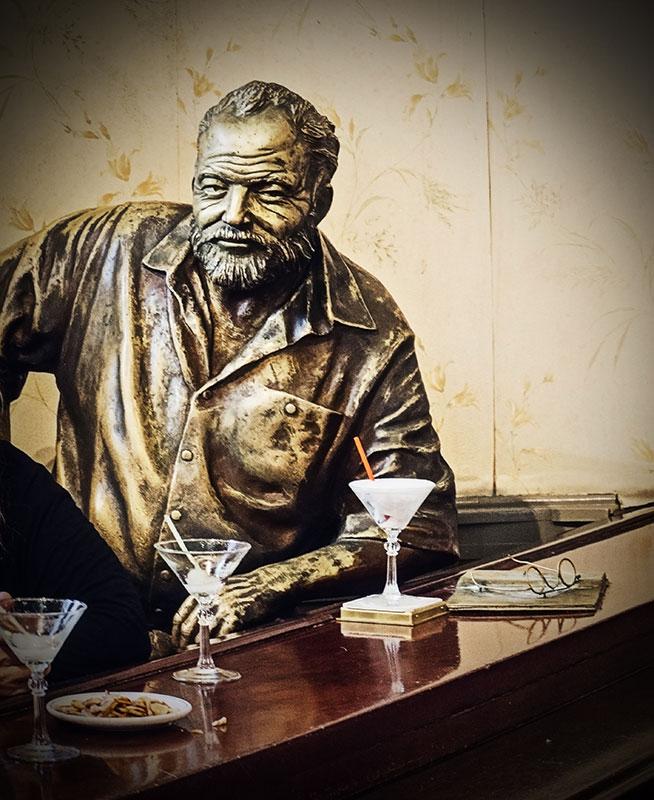 Ernest Hemingway y su daikiri en la Floridita