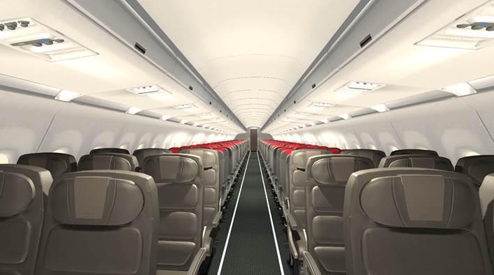 Avión a320 neo de iberia interior cabina