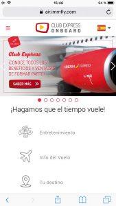 Entretenimiento de IBERIA EXPRESS revista traveling a bordo