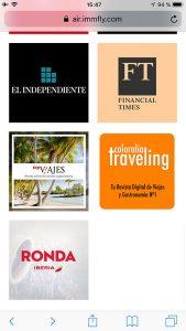 Entretenimiento de IBERIA EXPRESS paso 3 revista traveling