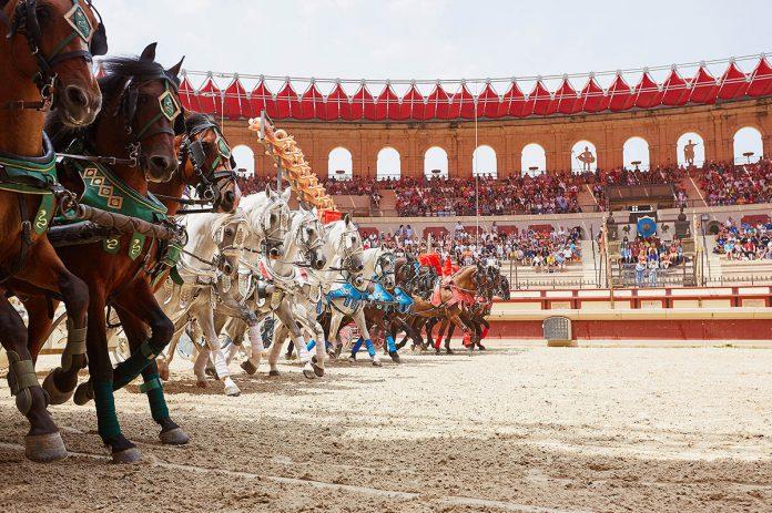 Puy do Fou. La señal del triunfo, en la recreación de un circo romano