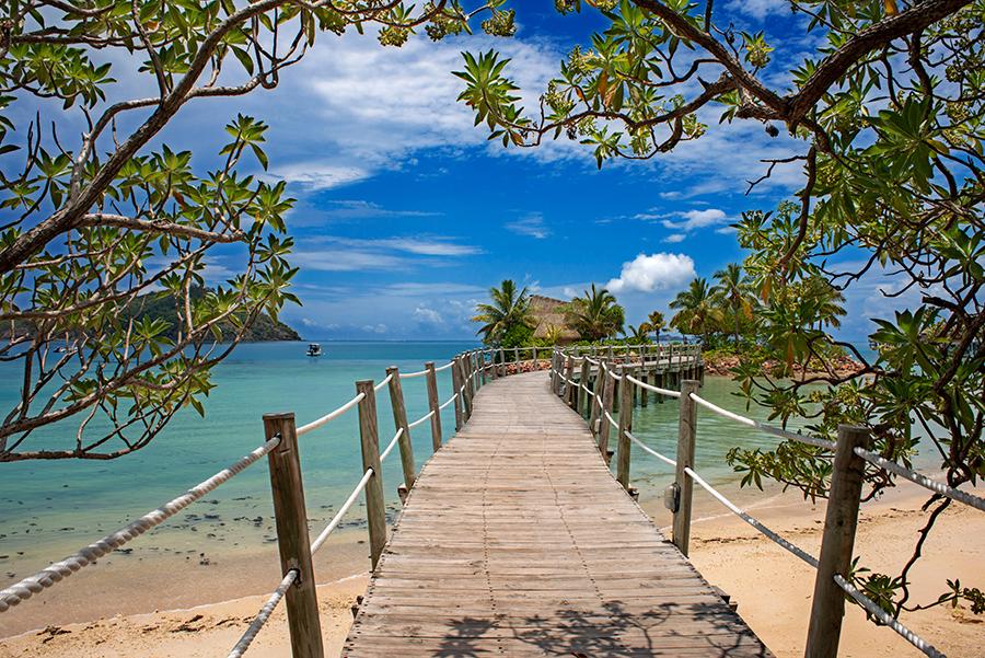 Embarcadero en Likuliku Lagoon Resort