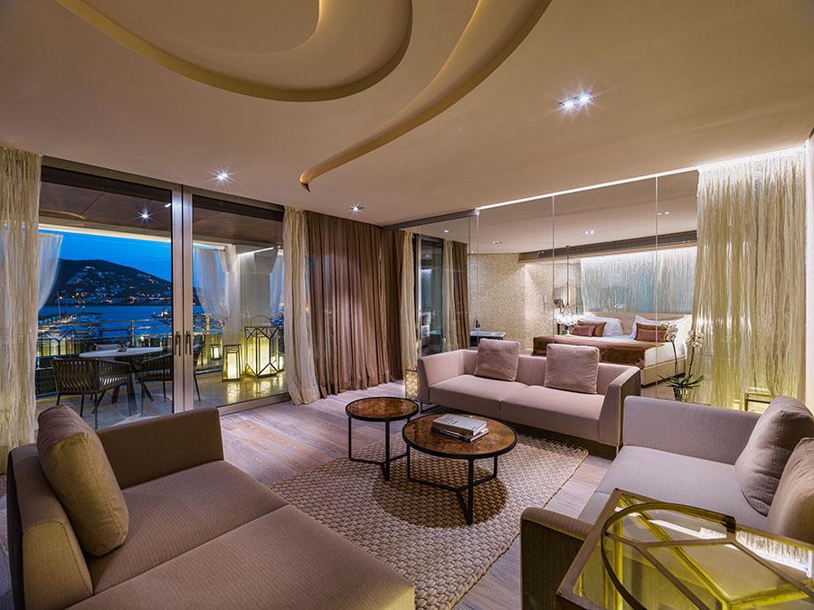 Living area de la Suite Presidencial