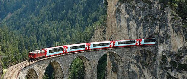 Milán Zurich a través del túnel de los Alpes