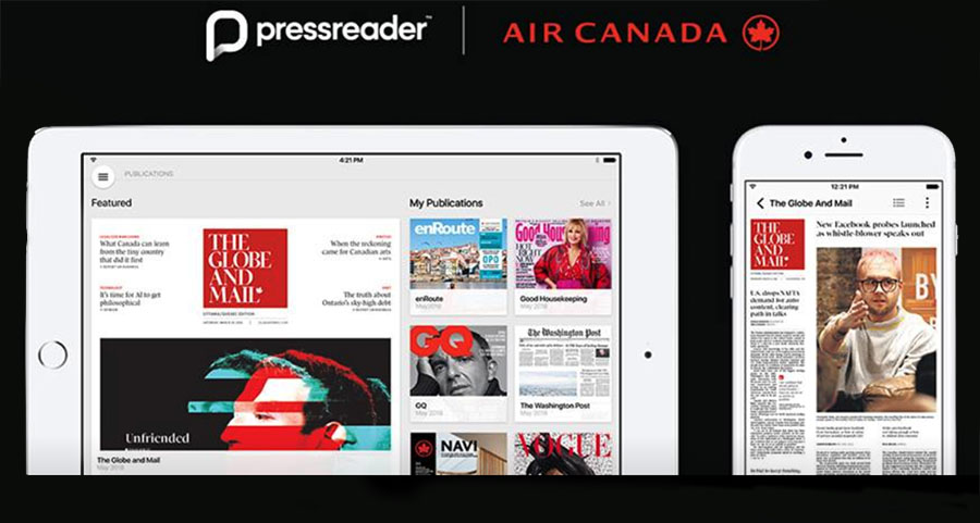 Pressreader y air canada
