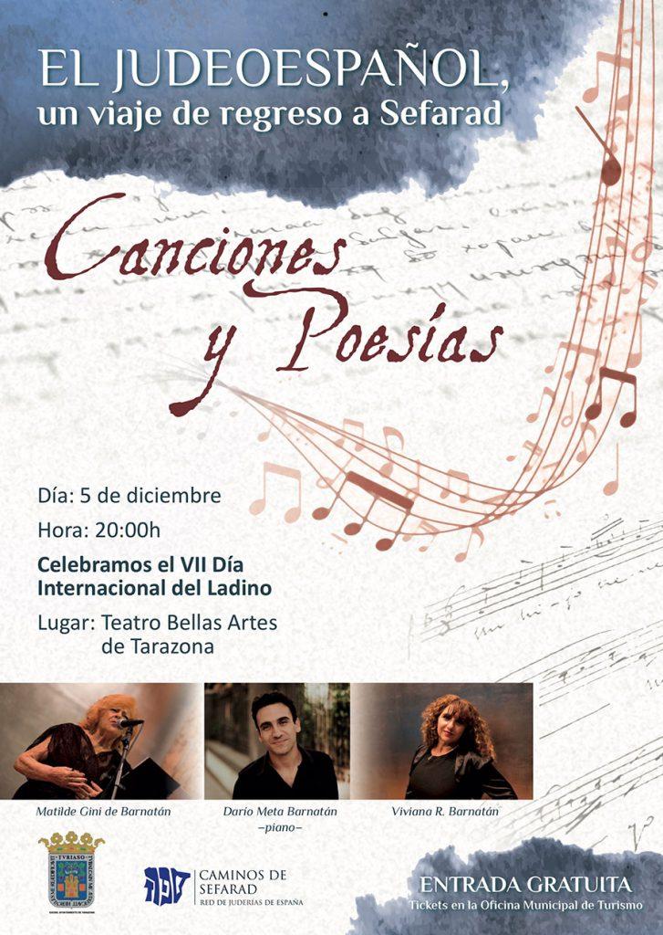 Cartel concierto Día internacional del Ladino
