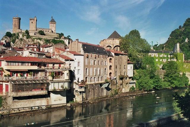 El río Ariège, Foix