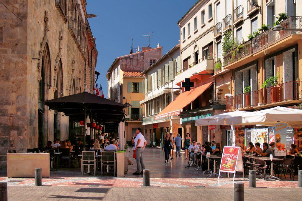 Céntrica calle de Perpignan