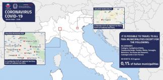 mapa del coronavirus en Italia
