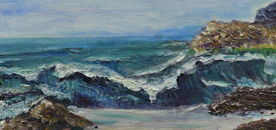 Cristina Gutiérrez Lafuerza Exposición El mar da vida a mis paisajes obra La Ola